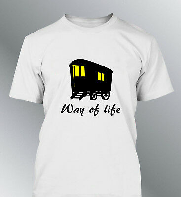 Tee shirt personnalise Roulotte Niglo M L XL homme gens voyage Gipsy way of life
