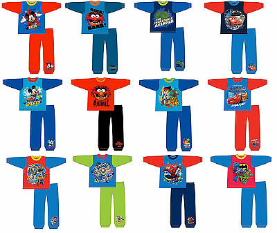 Boys Kids Children Mickey Mouse Superman Batman Pyjamas Nightwear Pjs Toddler Sz