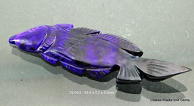 Natural Untreated Sugilite Gemstone Carving Unbehandelt Sugilith Edelstein