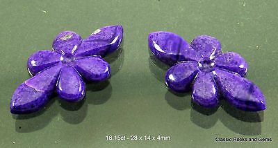Natural Untreated Sugilite Gemstone Carving Pair Unbehandelt Sugilith Edelstein