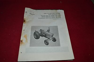 Case 2870 Tractor Dealer/'s Parts Book Manual RWPA
