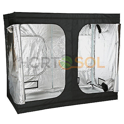 240x120x200 cm HORTOSOL Grow Box Tent Growschrank Growbox Zelt Anzucht für Home