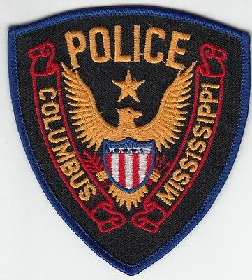 Columbus Mississippi Police Shoulder Patch
