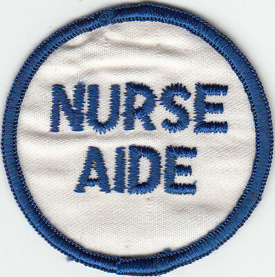 NURSE AIDE - MEDICAL PATCH on WHITE
