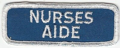 NURSES AIDE - MEDICAL PATCH on BLUE