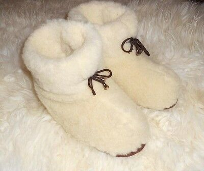 100% pure sheep Wool SLIPPERS, New natural felt merino Boots, All Men's sizes