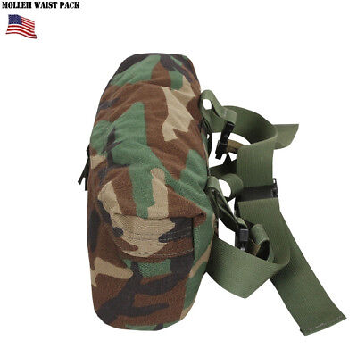 US ARMY USAF MOLLE II WAIST PACK BUTT FANNY WOODLAND HIP BAG USGI ALICE MILITARY