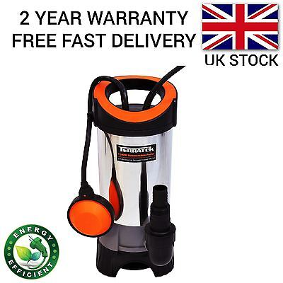 Terratek 1100W Universal Dirty/clean Water Pump Submersible Automatic Electric