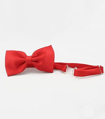 New Baby Toddler Kid Teen Boy Wedding Formal Party Satin Red Bow Tie S-4T 5-20