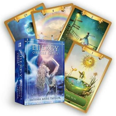 Energy Oracle Cards: A 53-Card Deck and Guidebook by Sandra Anne Taylor (English