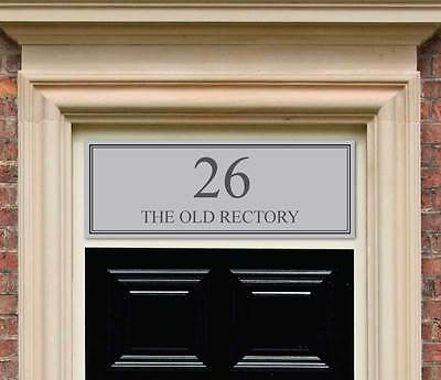 Etched glass style Fanlight / Transom House Numbers for Victorian Front Door
