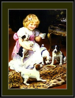 English Print Jack Russell Terrier Dog Art Picture