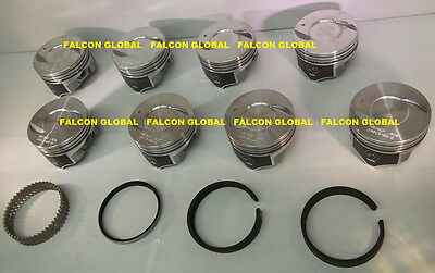 30 Sealed Power Chevy 454//7.4 Hypereutectic Coated Skirt Pistons Set//8 1983-90