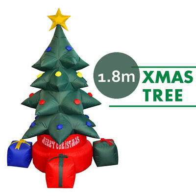 Inflatable Christmas Tree w/ Built-in Light, Xmas Decoration Airblown 6' Height