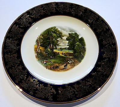 Vintage Weatherby Royal Falcon Cabinet Plate Country Lane