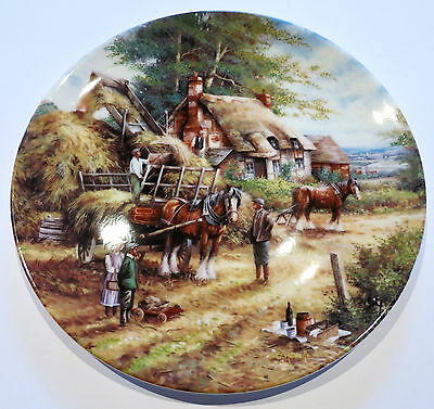 "Wedgwood Collector Plate Country Days ""making The Hayrick"""