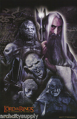 POSTER:MOVIE REPRO:  LORD OF THE RINGS - SARUMAN WITH ORCS - #3523   LP33 i