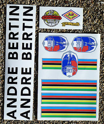ANDRE BERTIN Classic Vintage style Cycle Frame Decals Stickers metallic ink