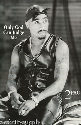 POSTER: MUSIC:RAP :TUPAC - ONLY GOD CAN JUDGE ME - FREE SHIP! #233 LP34 X