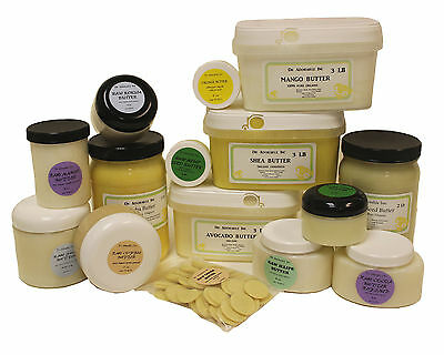 Organic Butters 100% Pure RAW Fresh Natural 2oz 4 oz  up to 12 Lb Free Shipping