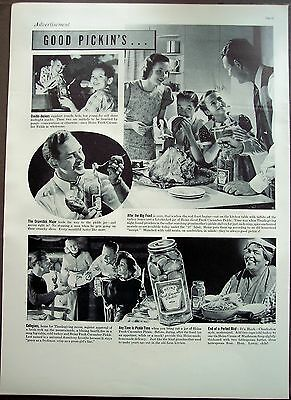 1937 vintage Ad Family at Thanksgiving HEINZ Fresh Cucumber Pickles