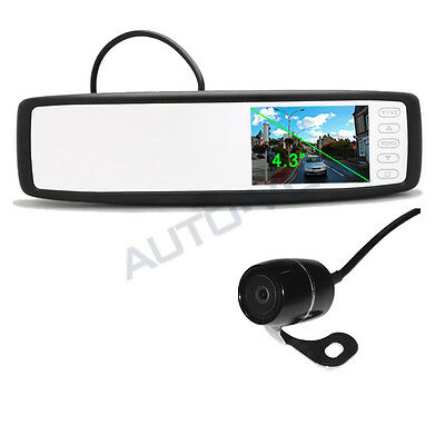 "2.4GHz Wireless 4.3"" LCD Car Rear View Mirror Monitor+Backup Camera Night Vision"