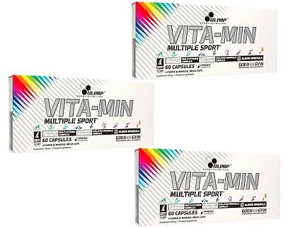 OLIMP VITA-MIN MULTIPLE SPORT 60/120/180 caps. VITAMIN & MINERALS FREE WORLDWIDE