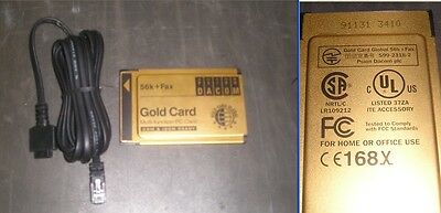 Psion S99-2318-2 Gold Card Global 56K + Fax PCMCIA PC Card w/ Dongle