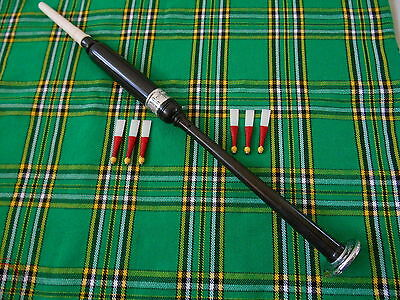 New Scottish  Highland Bagpipe Practice Chanter  African Black Wood Engraved