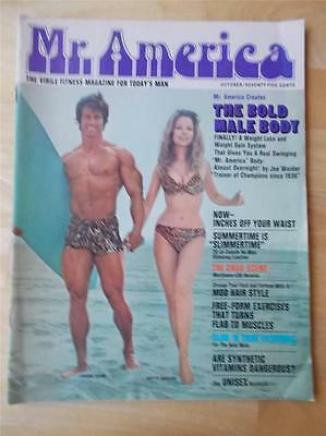 MR AMERICA bodybuilding muscle magaine/FRANK ZANE & BETTY WEIDER 10-70
