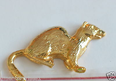 Ferret Pin , Tie Tack, Quality 3-D Golden Finish, Beautiful & Great to Gift