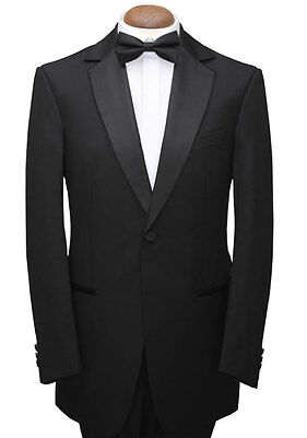 Tuxedo Men's Mans Boys Black Single Breasted Dinner/prom Jacket Stunning Quality