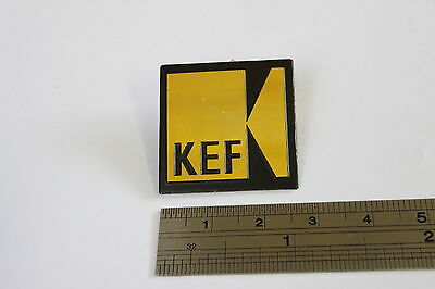KEF Logo Badge Aluminium 27mm Single