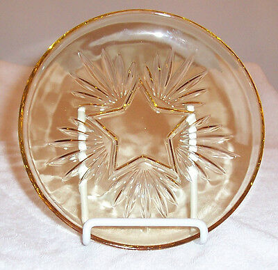 "Federal Star Yellow 6 3/16"" Salad Plate"