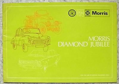 MORRIS DIAMOND JUBILEE 1913-1973 Salesman's Product Brochure MARINA