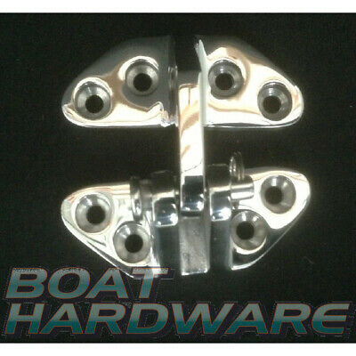 Hatch Door Hinge 76 x 64mm 316 Marine Polished Stainless Steel DIY Caravan Boat