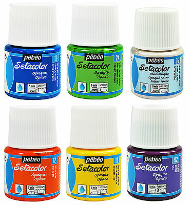 Pebeo Setacolor Fabric Textile Paint 45ml Pot - All OPAQUE Colours Available