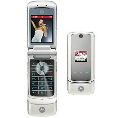 Verizon Motorola KRZR K1 White Mock Dummy Display Toy Cell Phone