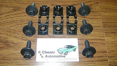 Leaf Spring Bracket Mounting 12pc Kit Bolts J-Clips Camaro Firebird Nova