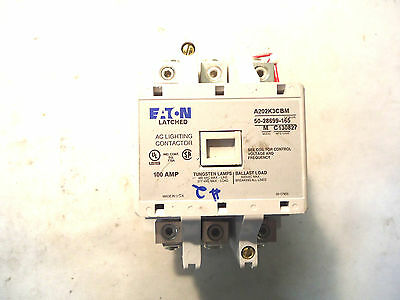 New Eaton/cutler-Hammer A202K3Cbm 100 Amp Latched Ac Lighting Contactor