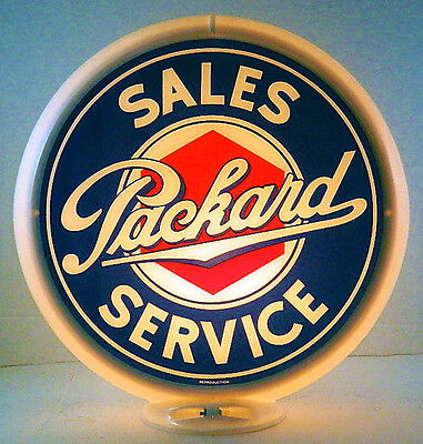 Packard Sales & Service Gas Pump Advertising Globe Sign G-263