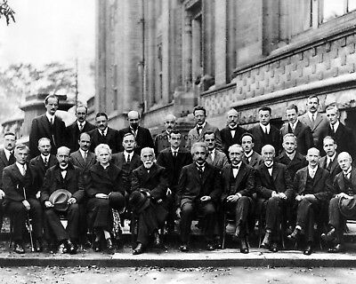 Einstein Attends 1927 Solvay Conference On Quantum Mechanics 8X10 Photo (Aa-098)