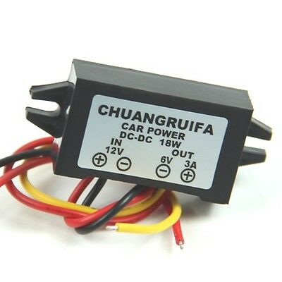 DC/DC Converter 12V Step down to 6V 3A 15W Power Supply Automatic Recovery