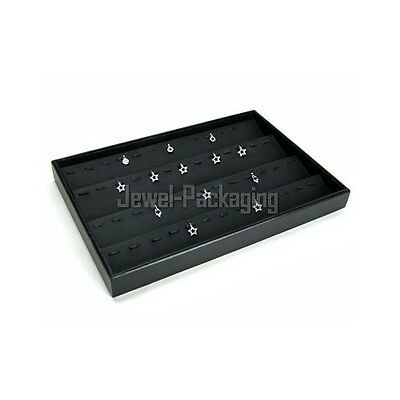 """13.8"""" Black Jewelry Shops Retail Display Stand Pendants Tray Case Holder"""