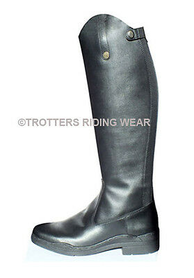 BROGINI MODENA LONG RIDING BOOTS BLACK - Wide to X/Wide Calf