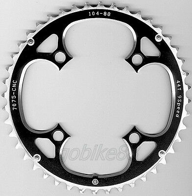 gobike88 Driveline 9 10 speed black chainring 44T BCD 104mm 105g MTB, 200
