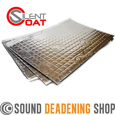 Silent Coat 2mm Bulk Pk 40 Sheets Car Van Sound Deadening Vibration Proofing Mat