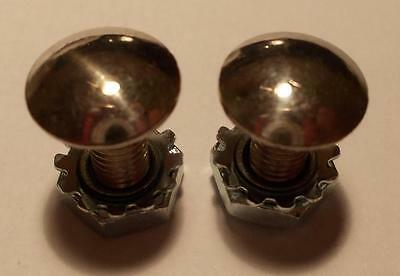 4 Vintage Morris Minor Saloon Tourer Number Plate Stainless Domed Fixing Bolts
