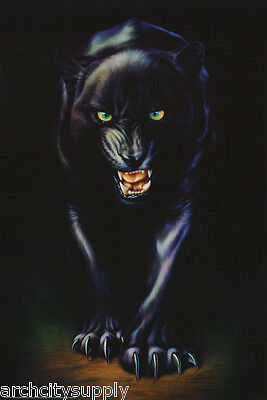 Poster : Animal  :  Mean Black Panther -  Free Shipping ! #24-009     Lp53 N