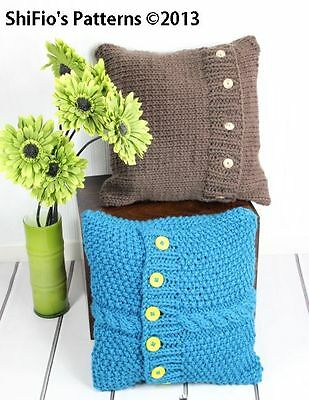 Knitting Pattern For Chunky Aran Cushion Covers 268 Not Clothes